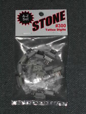 Stone Tattoo Digits Set #300 Complete Alphabet Letters A-Z Metal w/Plastic New