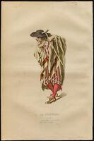 1875 - Grabado Émile Bayard: El Acento Serenata, Retrato De Scapin. (Regnard)