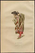 1875 - Gravure Émile Bayard : La Sérénade, portrait de Scapin. (Regnard)