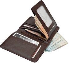WEBS Top Branded Genuine Real Leather Unique Book Style Wallet Purse Card Zip