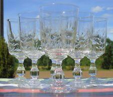 Saint Louis? Service de 6 verres à eau en cristal taillé. Début Xxe s.