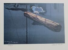 Grant Fuller Hand Signed Numbered Limited Edition Just Drying Off 1990