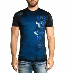 AMERICAN FIGHTER NORTHLAND TEE BLACK BLUE - MENS SHIRT   - FM12161