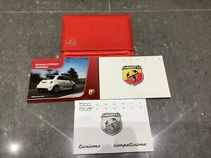 Genuine Abarth owners manual And Wallet 2012