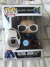 funko pop vinyl Elton John 63 Glitter Edition Exclusive Music Singer Figure
