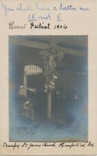 "2427 1904 EVII 1/2 d VF handmade RP postcard Duplex ""KENTISH-TOWN / N.W. / 9"""