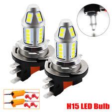 2X H15 LED Foglight DRL Bulb 30SMD 6000K White High/Low Beam Day Running Light
