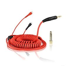 Red HD-25 Spiral DeLuxe Cable for Sennheiser Headphone HD 25 by zomo