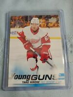 TARO HIROSE 2019-20 Upper Deck Series 1 Young Guns Rookie RC #215 Red Wings