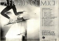 10/10/1981Pg37 Single Advert 7x10 Afraid Of Mice, Popstar C/w What I Want