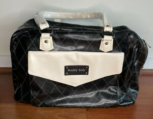 Mary Kay Consultant New Black Beige Strap Organizer Large Bag