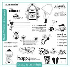Retired Rockin' It Unity Style Kit of Month March 2010 Rubber Cling Mount Stamps