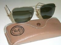 693b05a3a1f 1960 s 58mm VINTAGE B L RAY BAN GP G15 WRAP-AROUNDS CARAVAN AVIATOR  SUNGLASSES