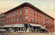 Rockland Maine Thorndike Hotel Street Scene Antique Postcard K14540