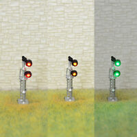 1 x N scale searchlight block signal model train 3 color SMD LEDs R/G/Y #SSNDS