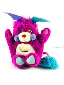 vtg 1986 Packy Purple Popple Piggy Bank Stuffed Animal Plush Toy Coin bank CLEAN