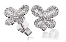 Diamond Butterfly Earrings 0.90ct F VS in 18ct White Gold