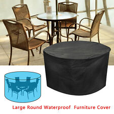 Garden Patio Table Chair Cover Outdoor Furniture Round Waterproof 4 6 Seater Set