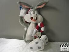 Bugs Bunny; candy cane; Christmas; Santa hat; Applause; NEW; 16 inch Holiday Joy