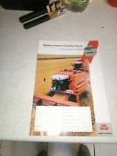 massey ferguson combine check combine inspection report unused