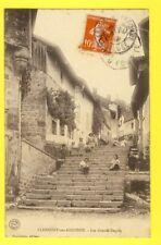 cpa 55 - CLERMONT en ARGONNE Meuse Les Grands DEGRÉS Animés