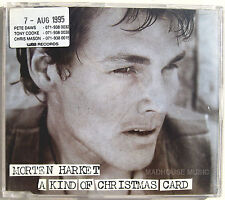 AHA CD Morten Harket A Kind Of Christmas Card UK PROMO UNPLAYED + PROMO STICKER
