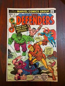 DEFENDERS #9 1973 Avengers vs Defenders War Hulk Thor Namor Dr Strange