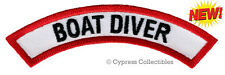 BOAT DIVER CHEVRON - SCUBA DIVING iron-on DIVE CERTIFICATION PATCH embroidered