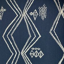 MOROCCAN BERBER STYLE BOHEMIAN WOVEN UPHOLSTERY FABRIC IN INDIGO BY THE YARD