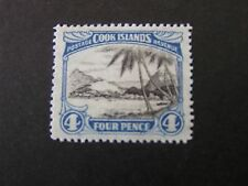 COOK ISLANDS. SCOTT # 88, 4p. VALUE 1932 PICTORIAL ISSUE MVLH