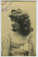 c 1901 French Theater ELISE DE VERE music hall Undivided Back photo postcard