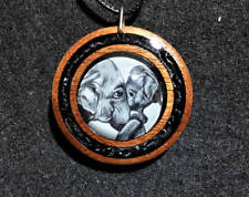 Elephant Mother and Baby Pendant,Motherhood,Animal jewelry,Rustic,Nursery,Wood