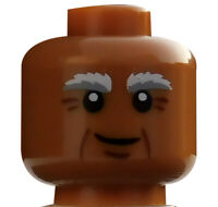 Lego Kopf hellbraun (medium dark flesh) für Minifigur Vitruvius 3626cpb1122 Neu