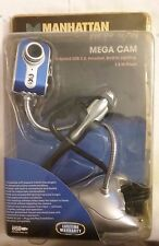 NEW Manhattan Mega Cam WebCam Hi-Speed USB 2.0 Headset, Lighting 1.3 Mega Pixel