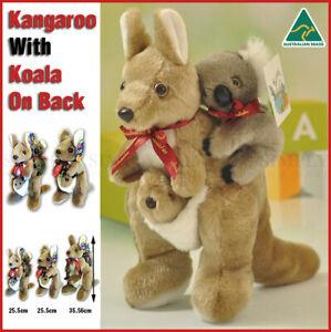 Kangaroo With Koala On Back Plush Stuffed Soft Toy Kids Gift Souvenir Australian