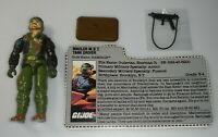 Vintage 1989 GI Joe Rampage v1 Figure Mauler MBT Tank Driver Mail Away File Card