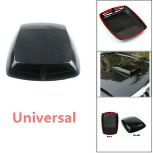 Auto Car 3D Car Air Flow Intake Hood Scoop Vent Bonnet Cover Plastic Sticker New