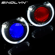 2.5 HID Projector Lens W/ LED Angel Halo Devil Demon Eyes Car Headlight Retrofit