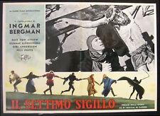 CINEMA-fotobusta IL SETTIMO SIGILLO von sydow, andersson, poppe, BERGMAN