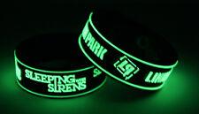 SLEEPING WITH SIRENS LINKIN PARK S8L7 2x Bracelet Wristband Glow in the Dark