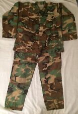 "Atlanco Men's Large Combat Cargo Pants 35-39"" & Hot Weather Woodland Coat 41-45"""