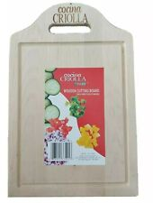 """COCINA CRIOLLA 13.5"""" x 9""""  DURABLE WOODEN CUTTING BOARD 1.2 POUND with Handdle"""