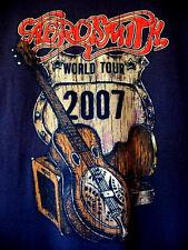 AEROSMITH...2007...WORLD...TOUR...BROWN...CONCERT...T-SHIRT...NEW...sz XL
