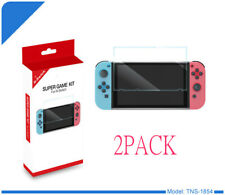 2 Pack of TEMPERED GLASS Screen Protector Clear Covers For Nintendo Switch ..UK