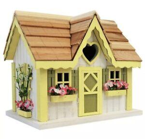 Home Bazaar Yellow Collage Wren Birdhouse