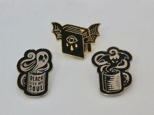 Dark Ghostly Enamel Pin Badges Brooch