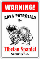 *Aluminum* Warning Area Patrolled By Tibetan Mastiff Owners Only 8X12 Metal Sign