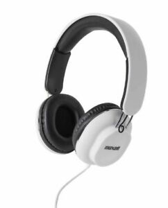 Maxell Classics Headphones With Mic For Hands Free Calling (white)