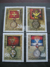 YUGOSLAVIA 1991 STAMPS CETINJE MUSEUM EXHIBITS, MONTENEGRIN FLAGS AND MEDALS MNH