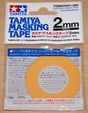 Tamiya 87207 Masking Tape 2mm Width, 18m Length, for RC Body Shells, NIP